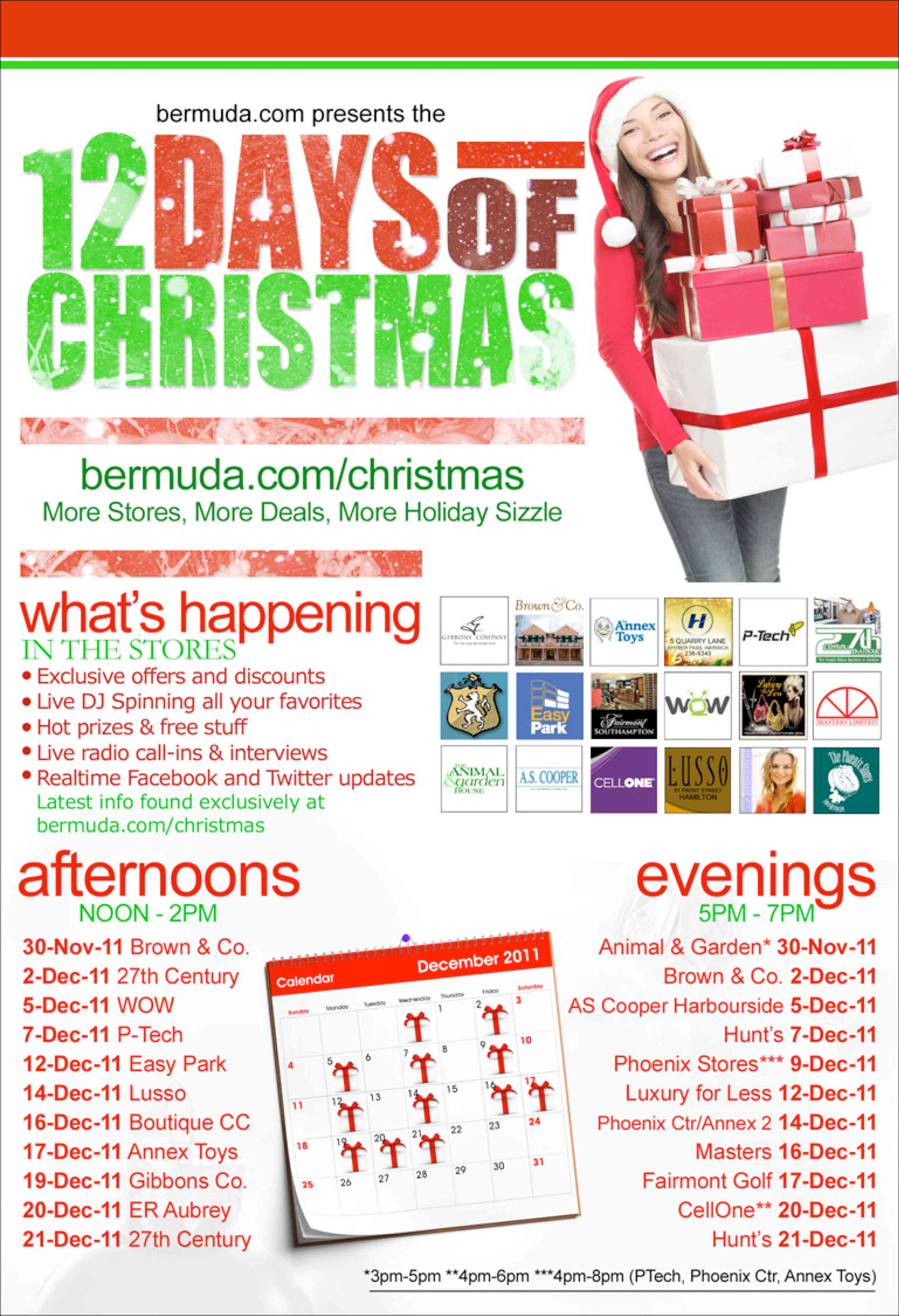 this kicked off on november 30th and includes a total of 12 shopping days and nights in total between then and december 21st for more details of dates - 12 Days Of Christmas Dates