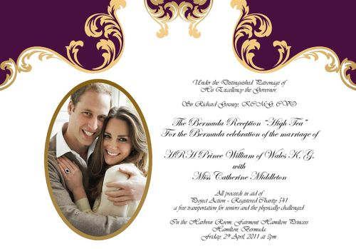 Bermuda Royal Wedding Reception High Tea April 29th