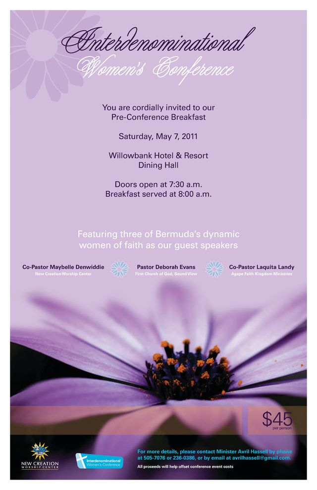 Upcoming Event Flyers: Pre-Conference Breakfast - May 7th
